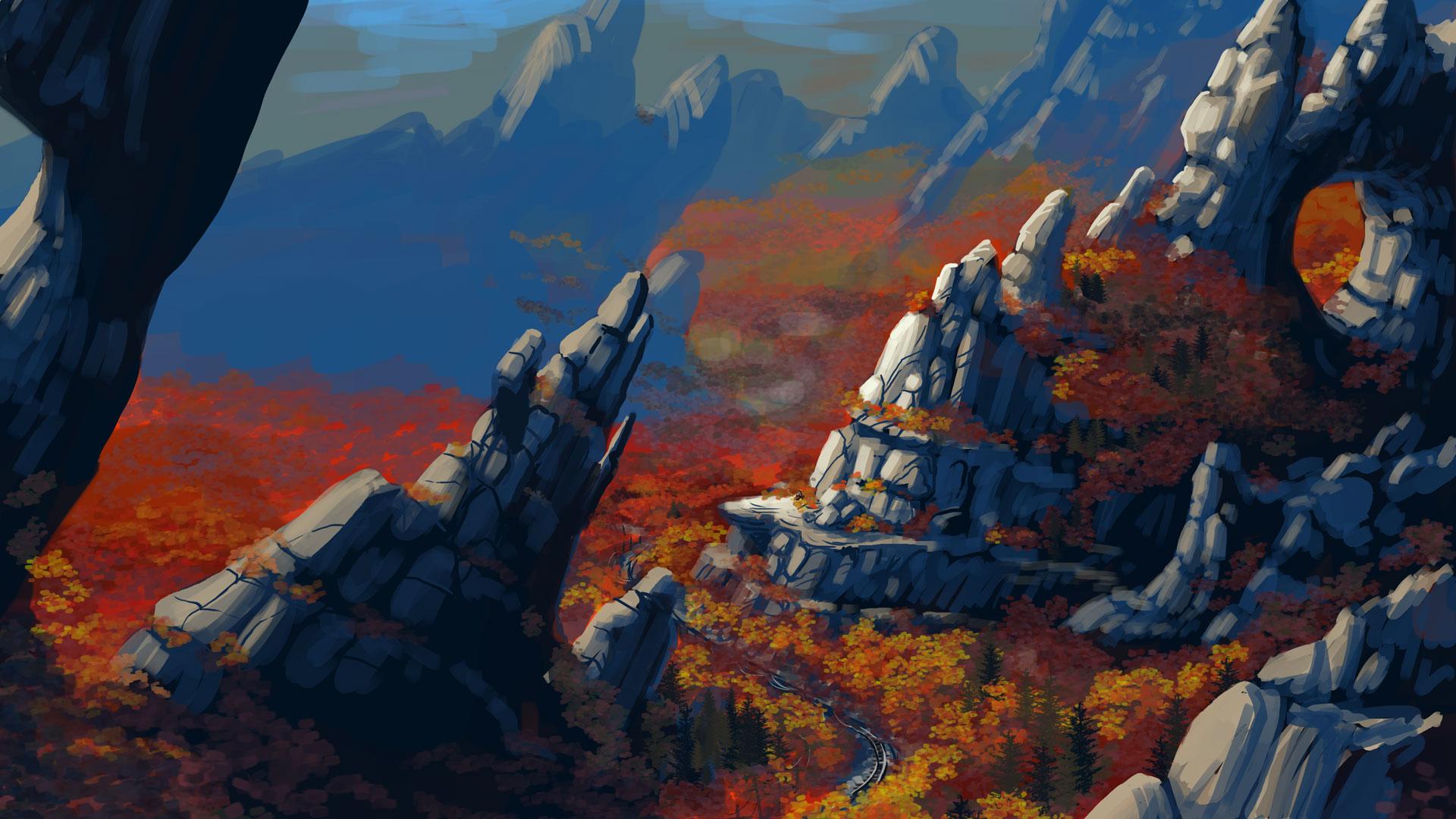 Resultado de imagen para redridge mountains artwork